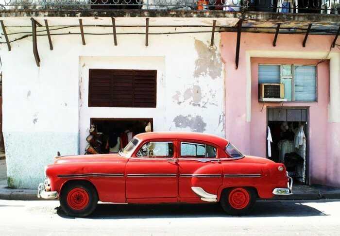Havana Cuba - cadillac - fototapeta 366x254 cm