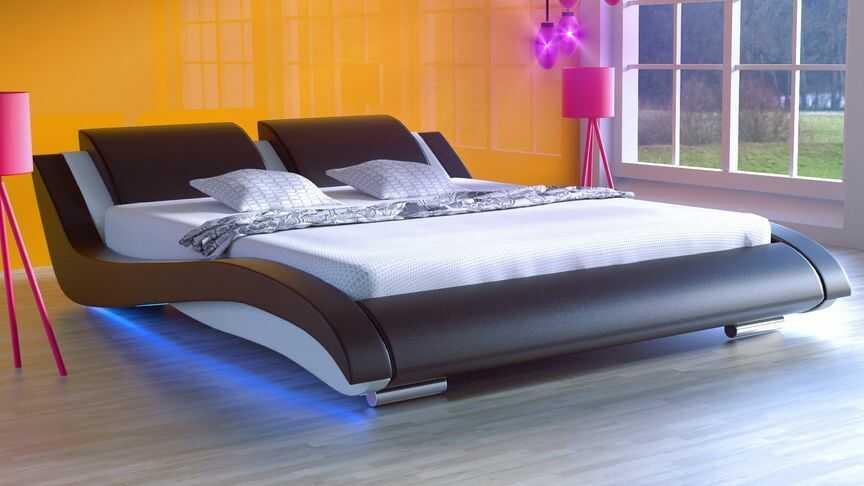 Łóżko do sypialni Stilo-2 LED 200x200 cm RgB multikolor
