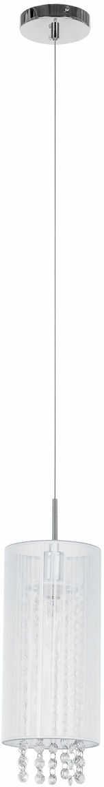 Lampa wisząca abażurowa biała Lana MDM1787/1 W Italux