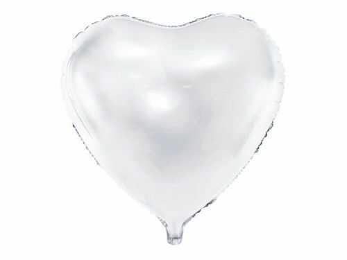 Balon foliowy duże białe Serce
