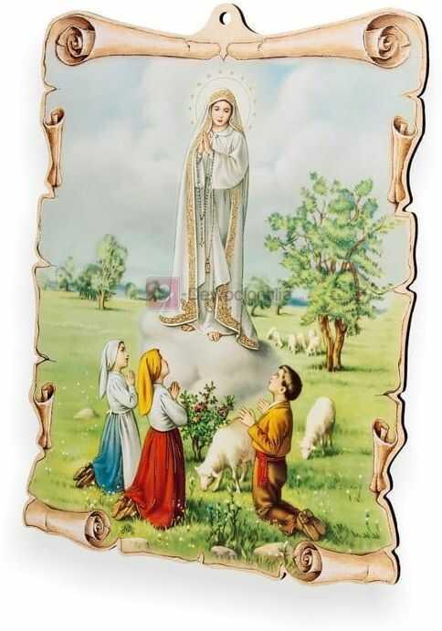 Obrazek pastelowy - Objawienie Matki Boskiej w Fatimie