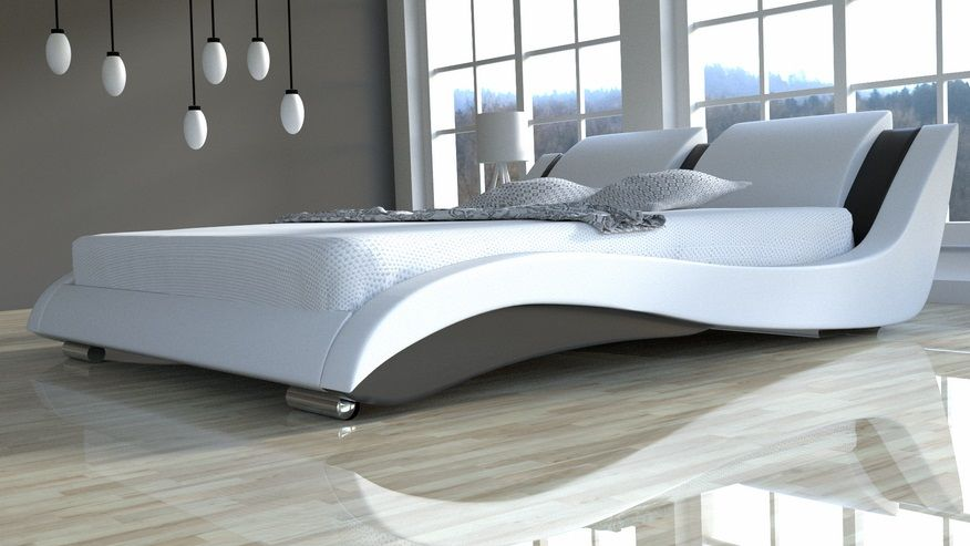 Łóżko do sypialni Stilo-2 Slim 140x200 - skóra naturalna