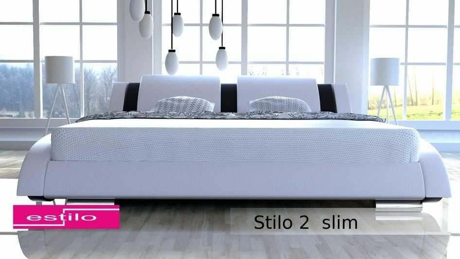Łóżko do sypialni Stilo-2 Slim 200x200 skóra naturalna
