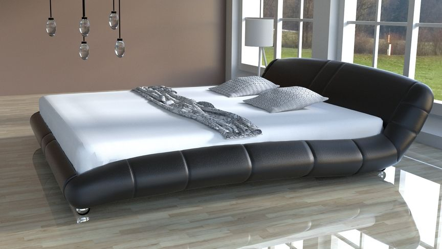 Łóżko do sypialni Lazurro-2 Slim 200x200 skóra ekologiczna
