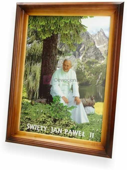 Obraz Jan Paweł II w górach - 47x37