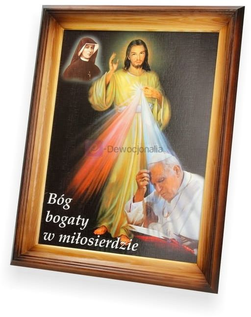 Obraz Bóg bogaty w Miłosierdzie - 47x37