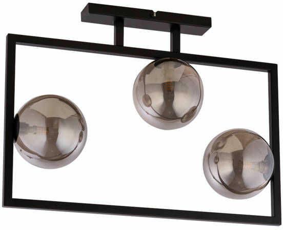 Lampa sufitowa ramka COSMIC 3 PLAFON czarny/szary 32123
