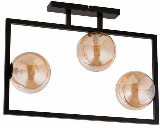 Lampa sufitowa ramka COSMIC 3 PLAFON czarny/bursztynowy 32124