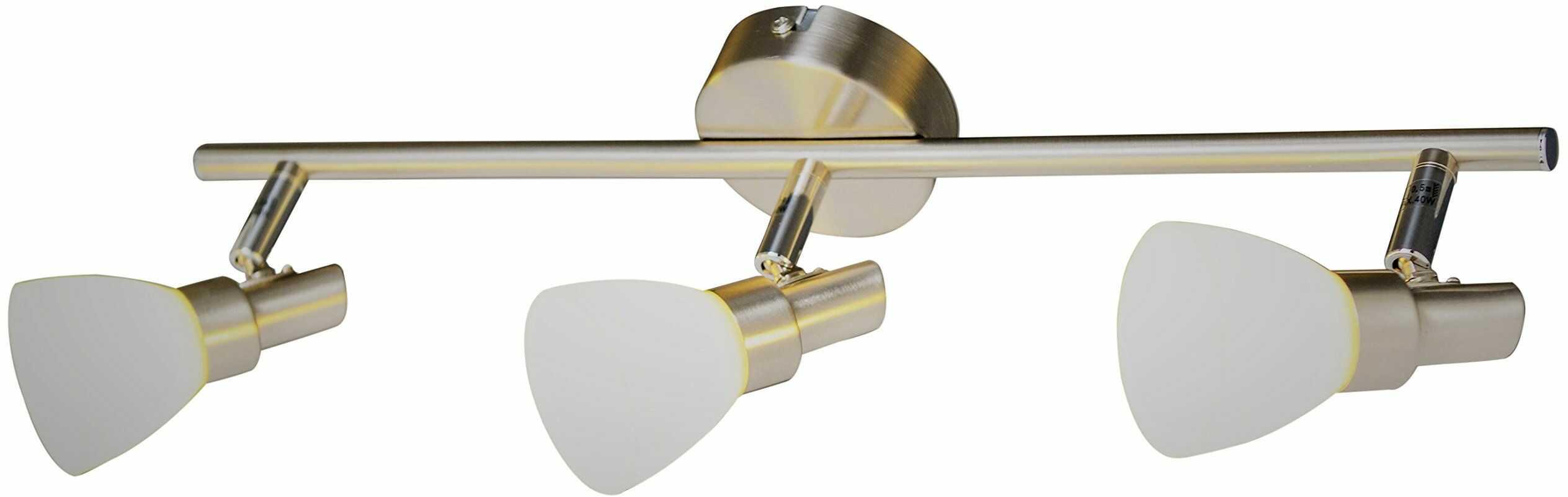Näve Leuchten 3-częściowy kinkiet punktowy lampa sufitowa LED Shine, metal, stal, 47,5 x 8 x 12 cm