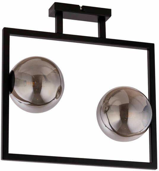 Lampa sufitowa ramka COSMIC 2 PLAFON czarny/szary 32127