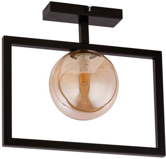 Lampa sufitowa ramka COSMIC 1 PLAFON czarny/bursztynowy 32132