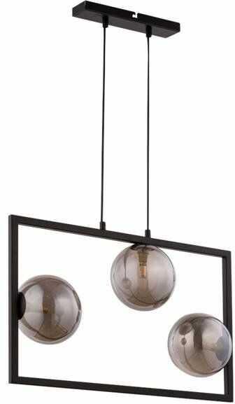 Lampa sufitowa wisząca ramka COSMIC 3 ZWIS czarny/szary 32121