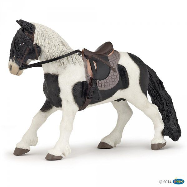 Figurka kucyk z siodłem - PAPO