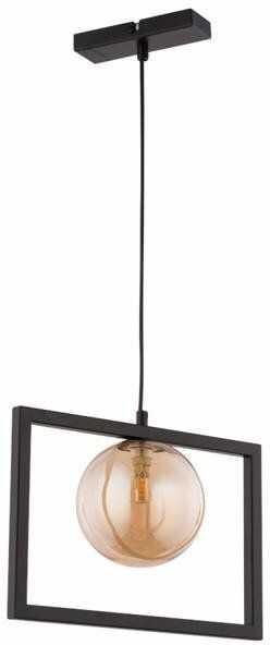 Lampa sufitowa wisząca ramka COSMIC 1 ZWIS czarny/bursztynowy 32130