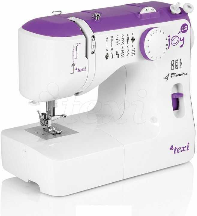 Maszyna do szycia Texi Joy 13 Purple - 13 ściegów + RABAT dla zalogowanych