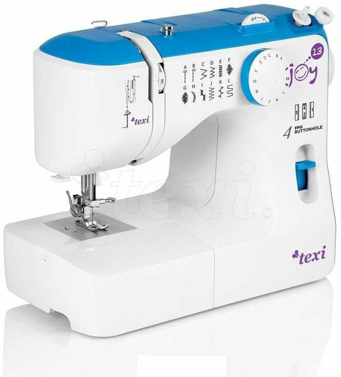 Maszyna do szycia Texi Joy 13 Blue - 13 ściegów + RABAT dla zalogowanych