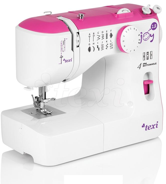 Maszyna do szycia Texi Joy 13 Pink - 13 ściegów + RABAT dla zalogowanych