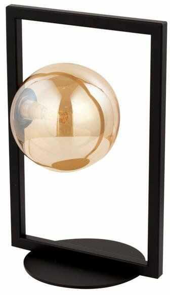 Lampa biurkowa stołowa nocna ramka COSMIC LAMPKA czarny/bursztynowy 50232