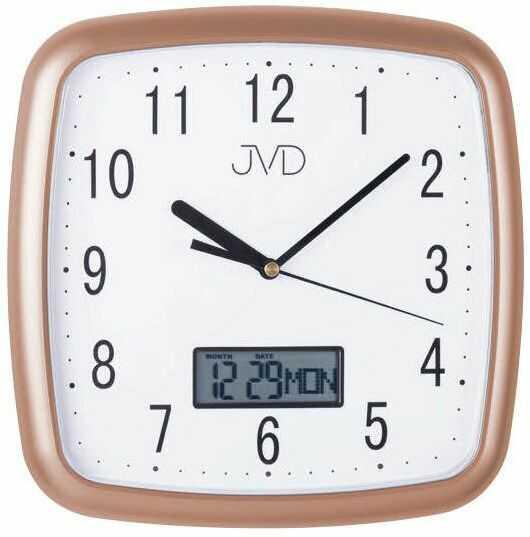 Zegar ścienny JVD DH615.5 26 x 26 cm Data Cichy mechanizm