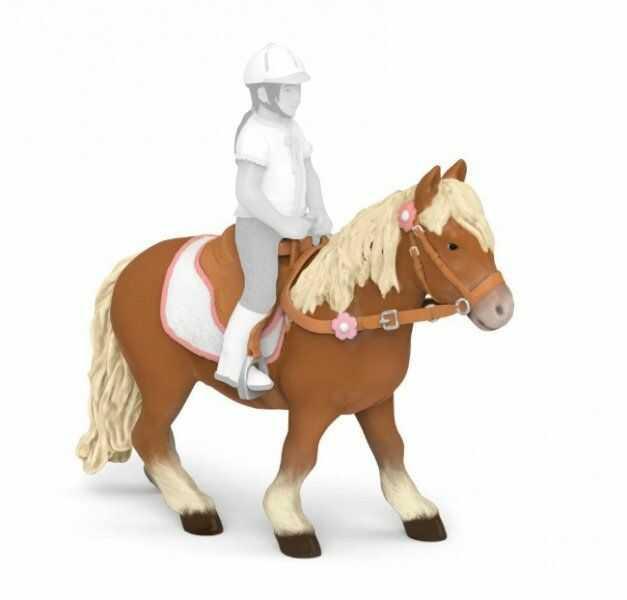 Figurka kuc szetlandzki z siodłem - PAPO