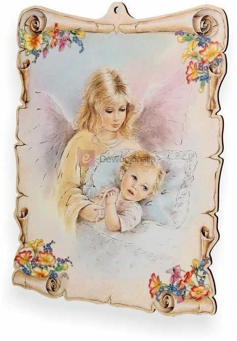 Obrazek pastelowy - Anioł Stróż - zawsze przy Tobie
