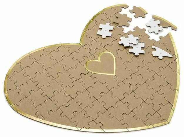 Księga gości weselnych puzzle Serce 85 elementów KG4-031-019