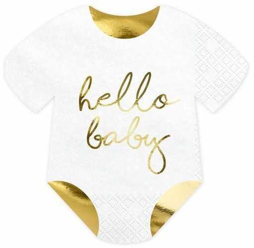 Serwetki Śpioszki Hello Baby 16x16cm 20 sztuk SPK13-008-019