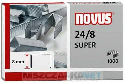 Zszywki Novus 24/8 SUPER x1000 zszywki do zszywaczy biurowych