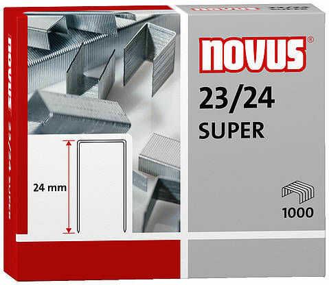 Zszywki Novus 23/24 SUPER x1000 do zszywaczy heavy duty wykonane z wysokiej jakości drutu