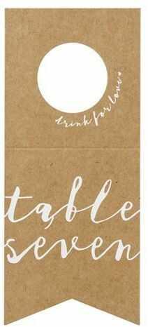 Numery na stół - zawieszki na butelki 10 sztuk KPZ7-031