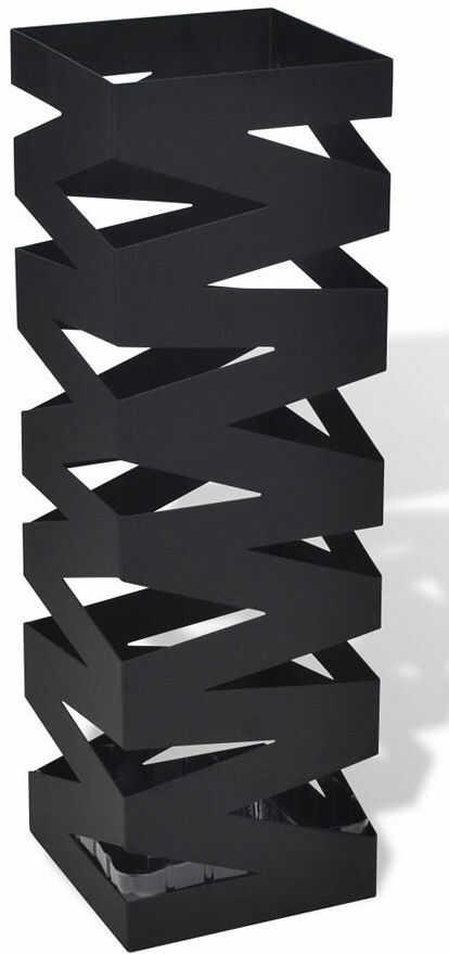 Czarny nowoczesny metalowy parasolnik - Nauro 3S