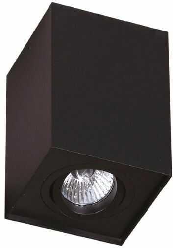 Plafon Basic Square C0071 Maxlight nowoczesna oprawa sufitowa w kolorze czarnym