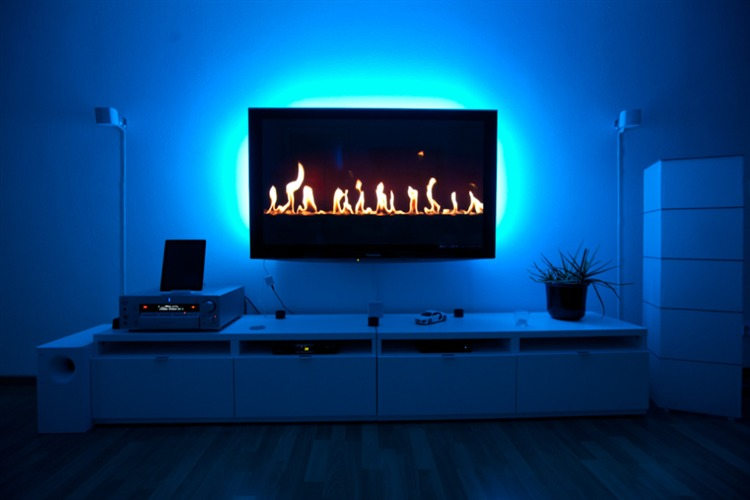 TAŚMA LED USB TV 2X50CM barwa ciepła 3000K