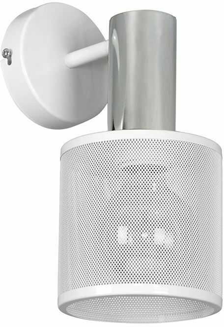 Milagro ARES WHITE MLP3719 kinkiet lampa ścienna industrialna klosz metal biały siatka 1xE27 28cm