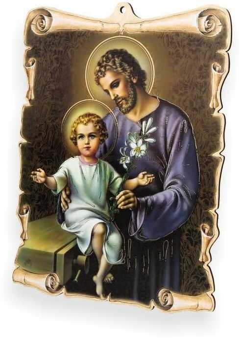 Obrazek pastelowy - Święty Józef