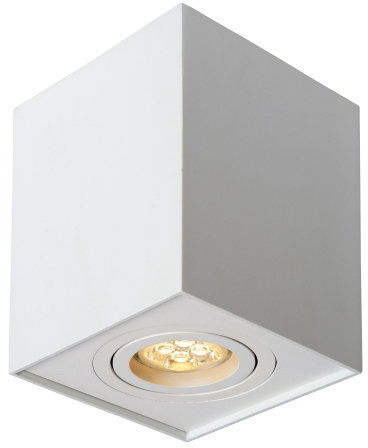 Oprawa sufitowa downlight kwadrat biała Lucide Tube 22953/01/31
