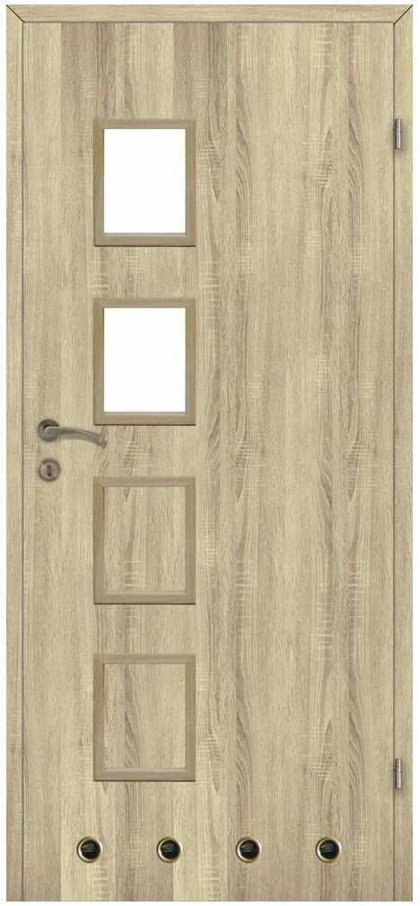 Skrzydło drzwiowe z tulejami wentylacyjnymi Simon Dąb sonoma 80 Prawe Classen