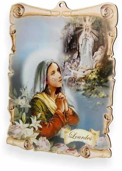 Obrazek pastelowy - Matka Boska z Lourdes