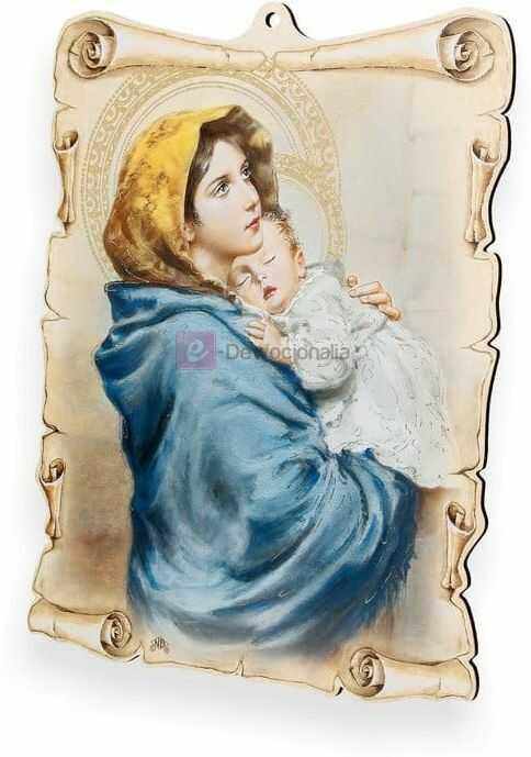 Obrazek pastelowy - Matka Boska z dzieciątkiem