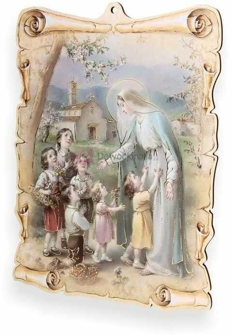 Obrazek pastelowy - Matka Boska z dziećmi