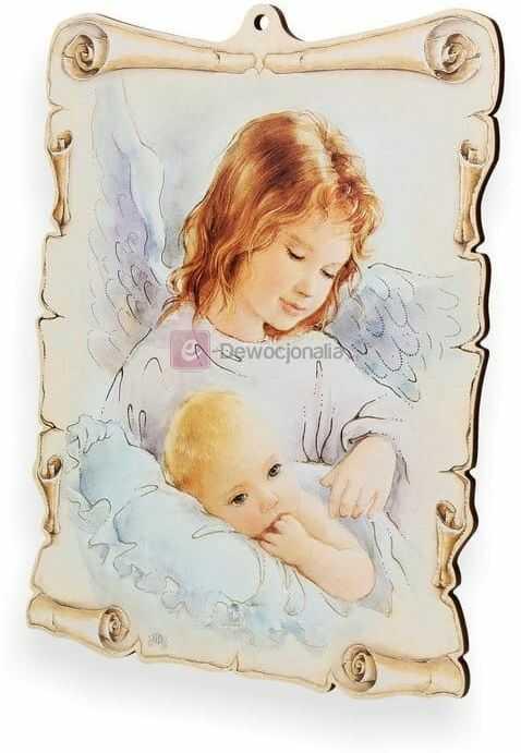 Obrazek pastelowy - Anioł Stróż - witaj maleństwo