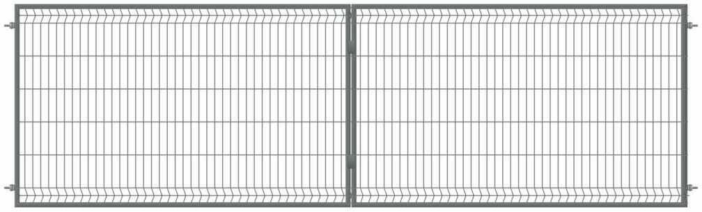 Brama dwuskrzydłowa STARK 400 x 120 cm antracytowa POLBRAM