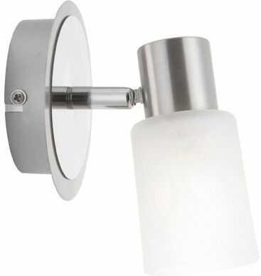 Globo kinkiet lampa ścienna Kati 54913-1 chrom, nikiel mat, szkło alabaster biały