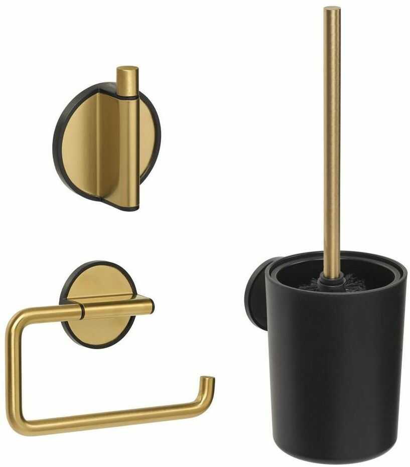 Zestaw akcesoriów łazienkowych Tune Złoty Coram