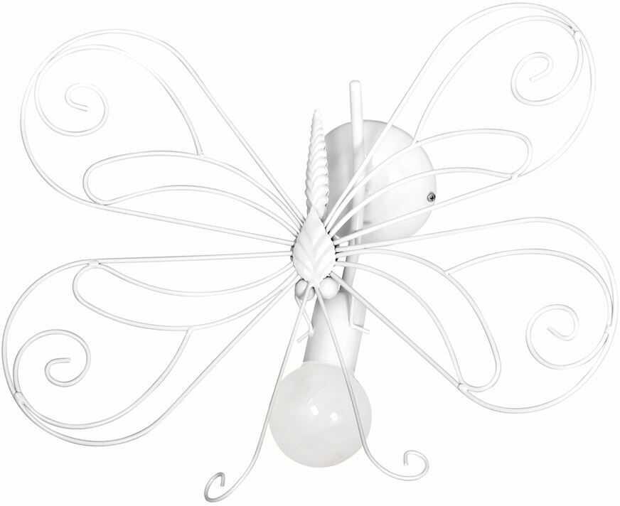 Milagro MOTYL 2 WHITE MLP5331 kinkiet lampa ścienna dziecięcy metal motyl biały 1xE27 53cm