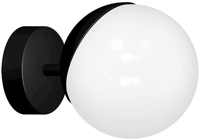 Milagro SFERA BLACK MLP8854 kinkiet lampa ścienna czarny klosz szklana kula 1xE14 15cm