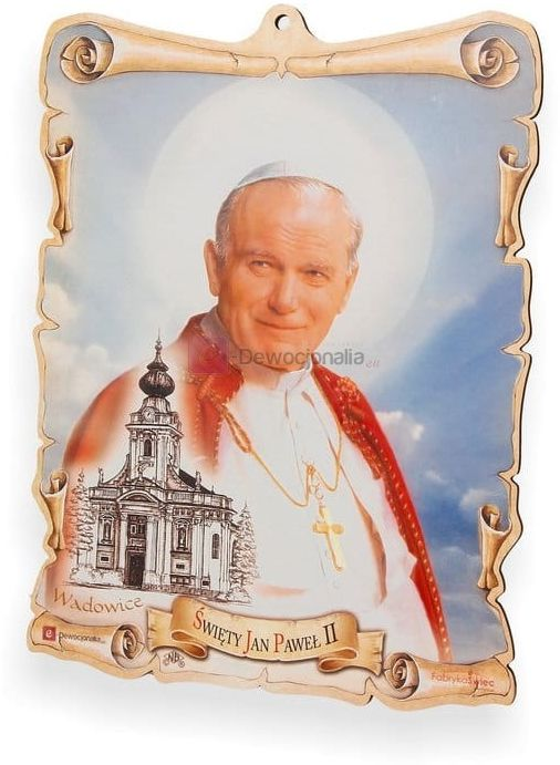 Obrazek pastelowy - Święty Jan Paweł II
