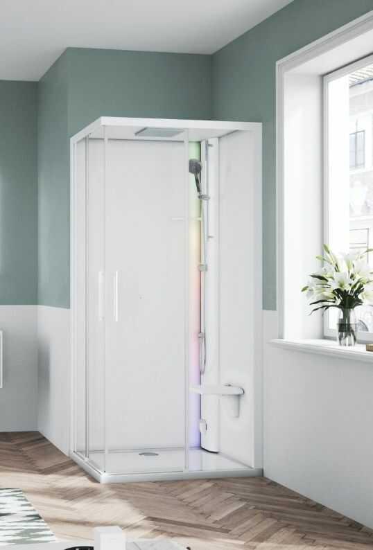 Novellini Glax 1 2.0 kabina z sauna parową 100x80 prawa biała G21A198DM5-1UU