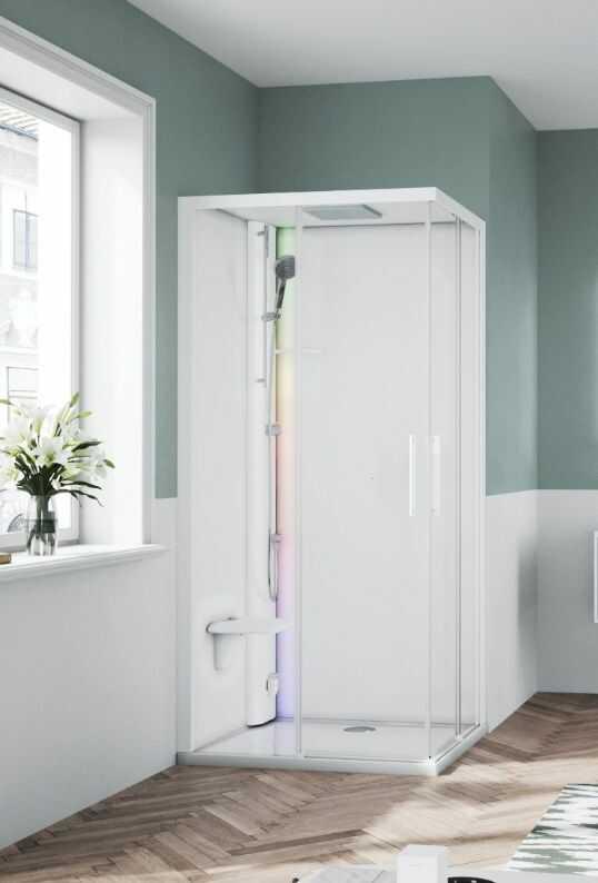 Novellini Glax 1 2.0 kabina z sauna parową 100x80 lewa biała G21A198SM5-1UU