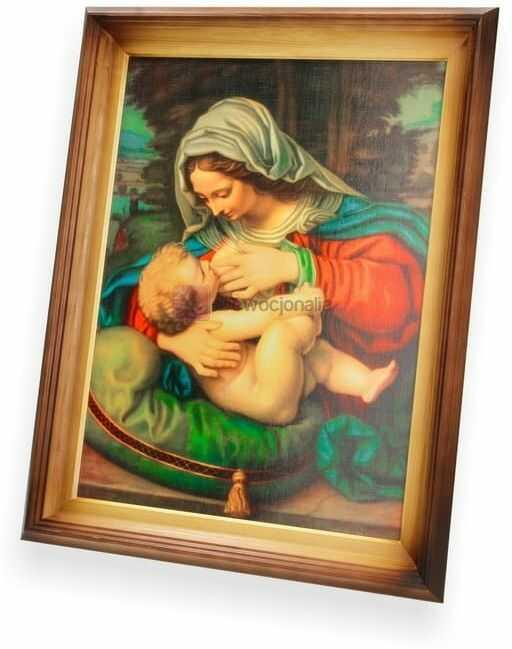 Obraz Matka Boska Karmiąca - 47x37